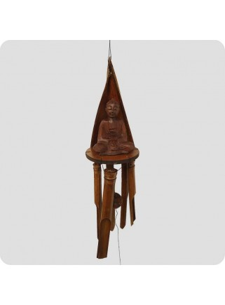 Windchime sitting buddha