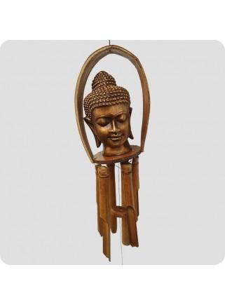 Vindspil buddhahoved bronzefarvet