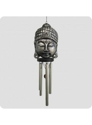 Vindspil buddhamaske sølv C metal