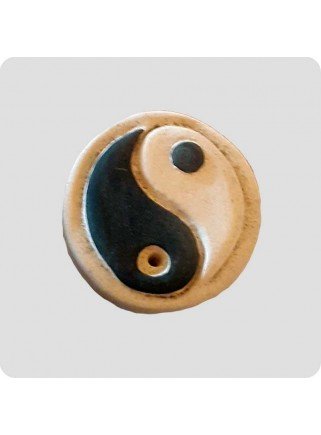 Røgelsesholder keramik rund yin/yang