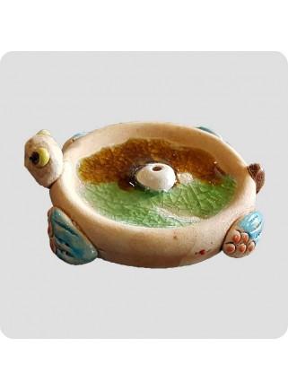 Incenseholder round turtle