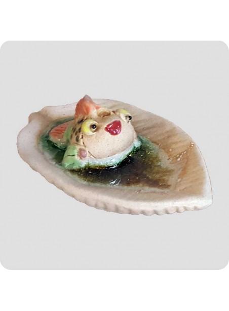 Røgelsesholder blad med fisk