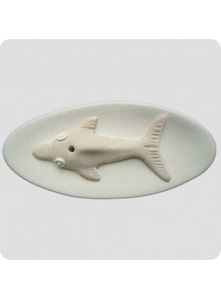 Incenseholder ceramic with dolphin