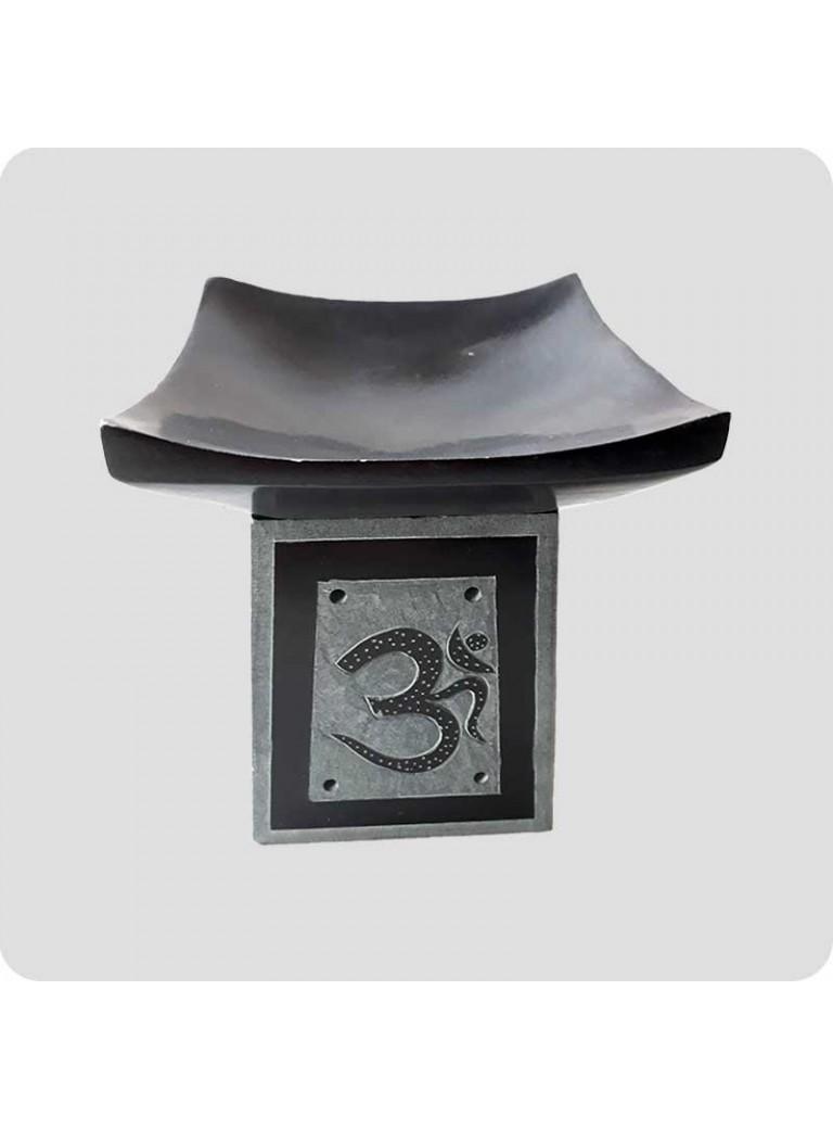 Aromalampe sort sten Om