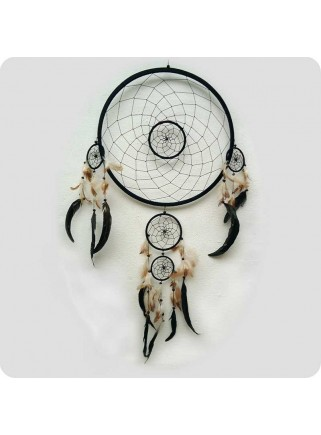 Dreamcatcher 42 cm black with flaws