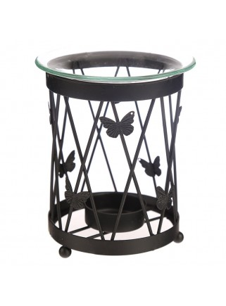 Oil burner metal butterflies black