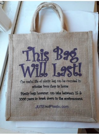 Jutetaske: This bag will last