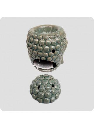 Aromalampe grøn buddha-hoved
