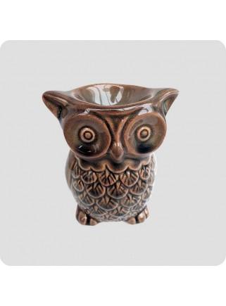 Oil burner owl brown
