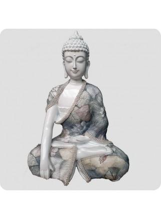 Buddha hvid 24 cm Afslapning