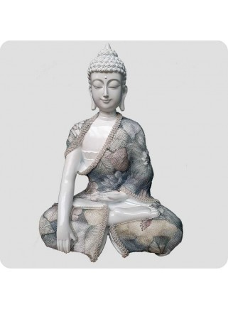 Buddha white 24 cm Relaxation
