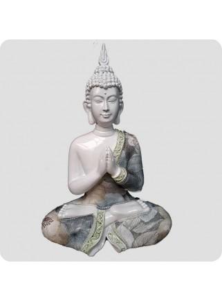 Buddha hvid 24 cm Lotus