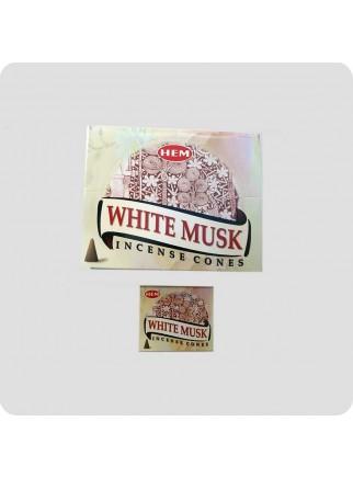 HEM røgelsestoppe 12-pack Hvid musk