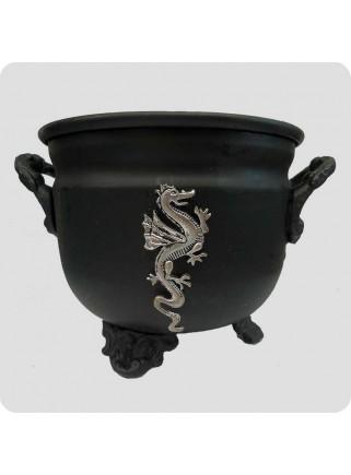 Metal skål til naturlig harpiks røgelse drage
