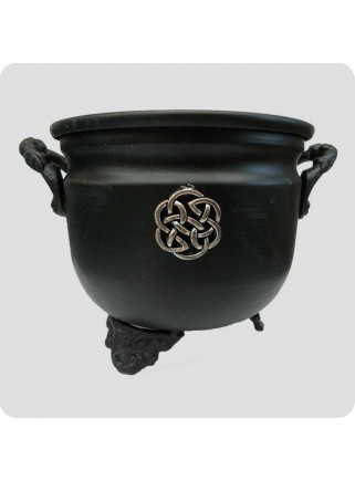 Metal cauldron for natural resin incense celtic