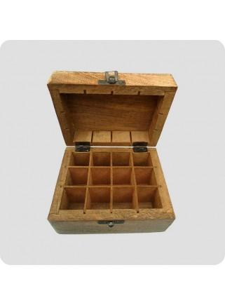 Box mangowood for 12 bottles of oil