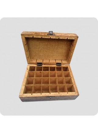 Box mangowood for 24 oil bottles