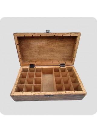 Box mangowood for 24 + 1 oil bottles