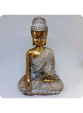 Buddha white and gold 21 cm Enlightenment