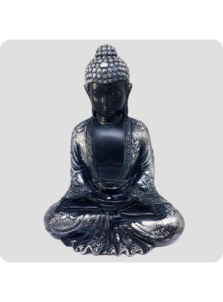 Buddha black and silver 19 cm Peace