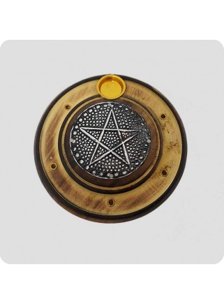 Røgelsesholder rund med stjerne
