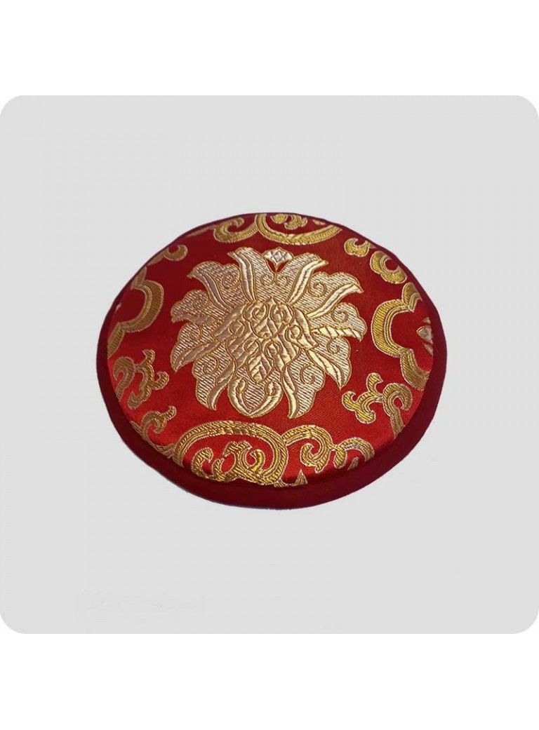 Flat cushion for singing bowls red