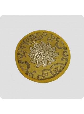 Flad pude til syngeskåle Mandala gul