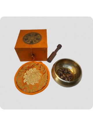 Singing bowl gift pack orange