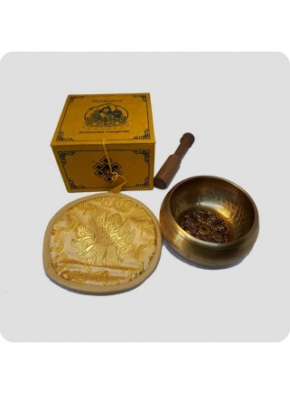 Singing bowl gift pack yellow
