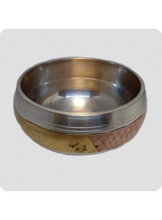 Small singing bowl inlayed Mantra