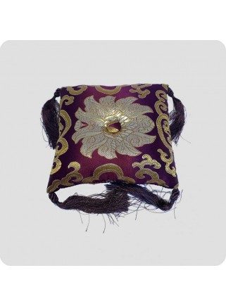 Square cushion for singing bowls purple