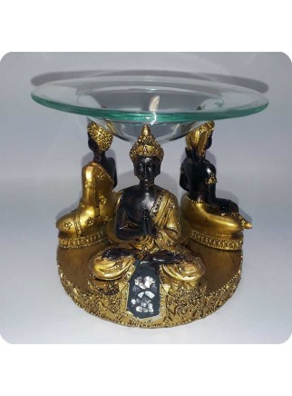 Aromalampe 3 thaibuddhaer guldlook