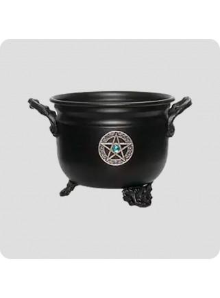 Metal cauldron for natural...