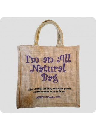 Jutetaske: I'm an all natural bag