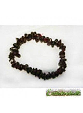 Gemstone chip bracelet - red garnet