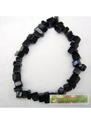 Armbånd - sort obsidian