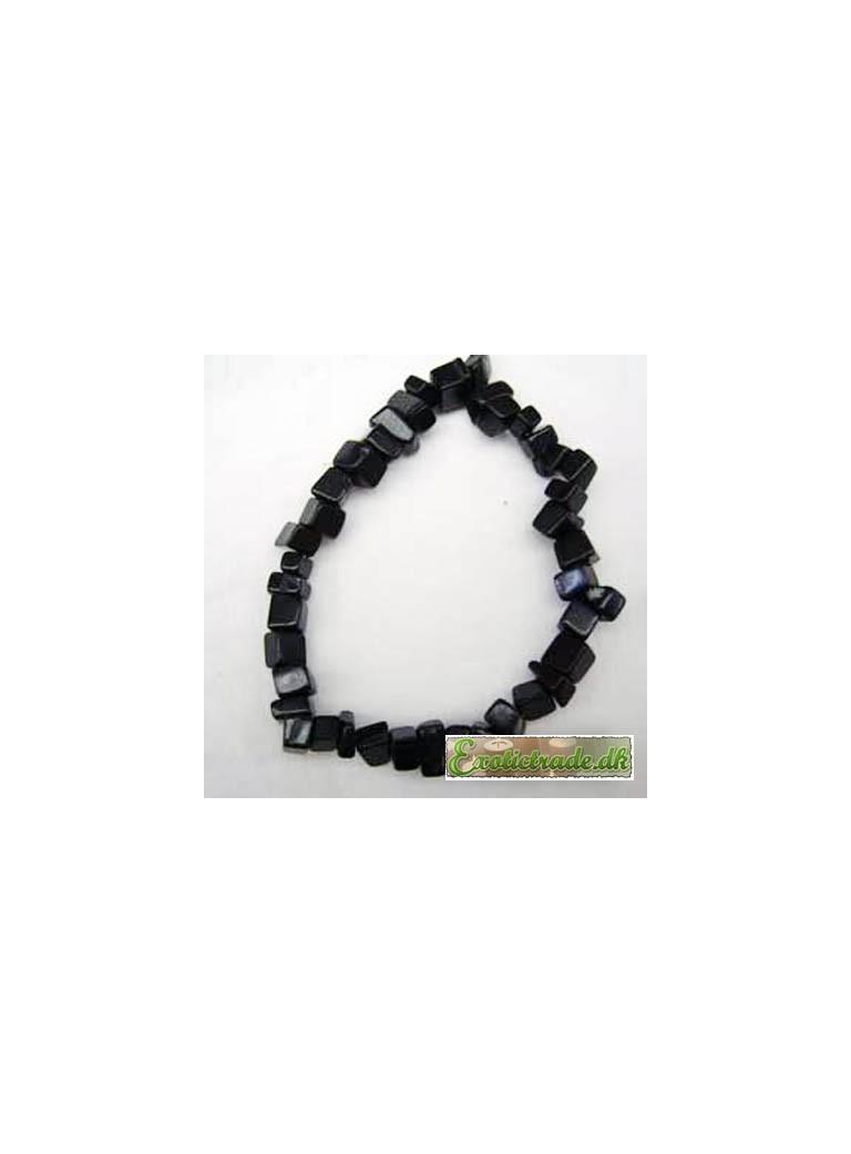 Gemstone chip bracelet - black obsidian