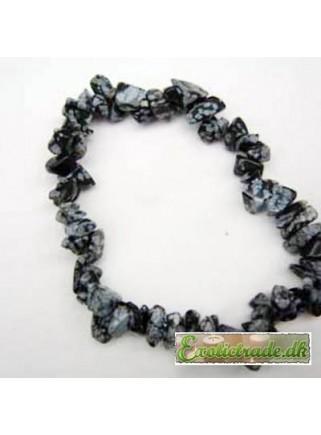 Armbånd - snefnug obsidian