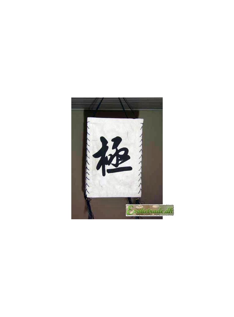 Tibetan lantern - chinese signs