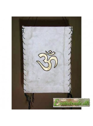 Tibetan lantern - Om symbol