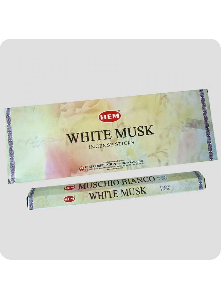 HEM hexa røgelse - Hvid Musk