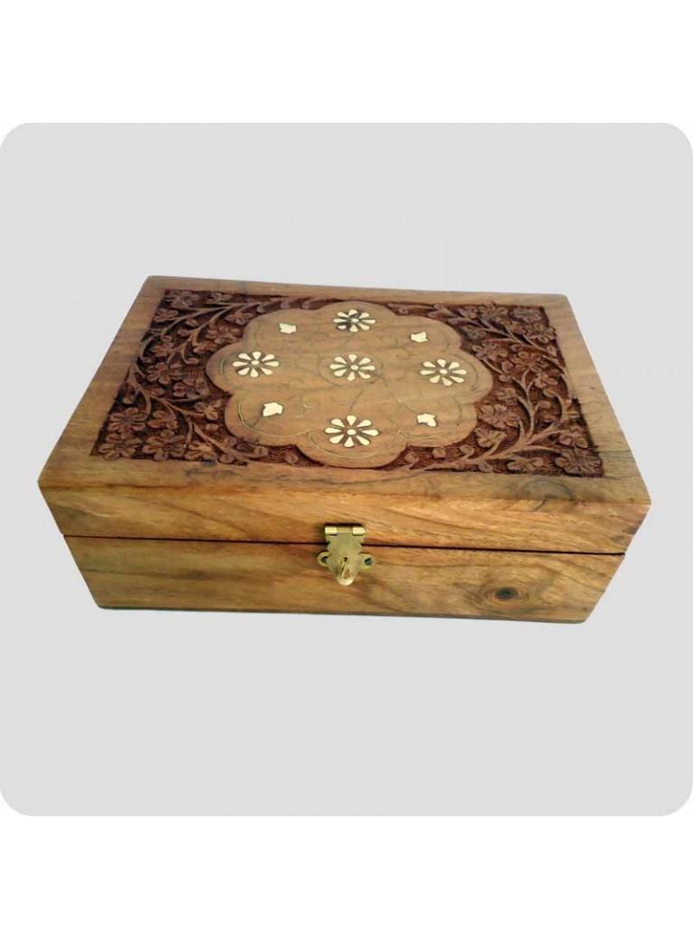 Wooden box for 24 oil bottles