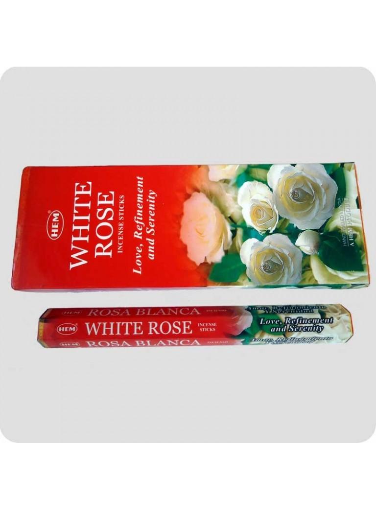 HEM hexa røgelse - White Rose (hvid rose)