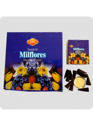 SAC incense cones 12-pack - milflores