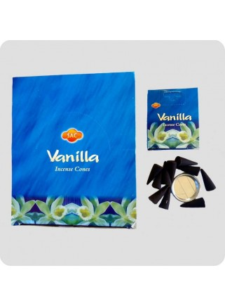 SAC incense cones 12-pack - vanilla