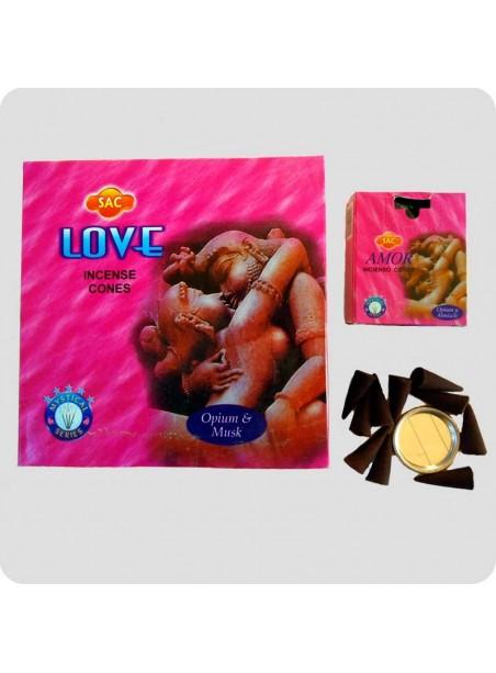 SAC incense cones 12-pack - love