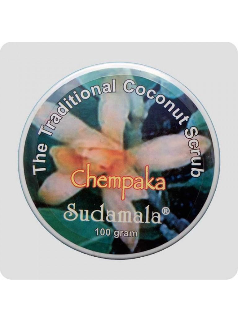 Coconut scrub with chempaka