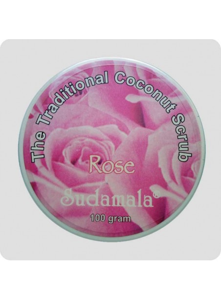 Coconut scrub with rose