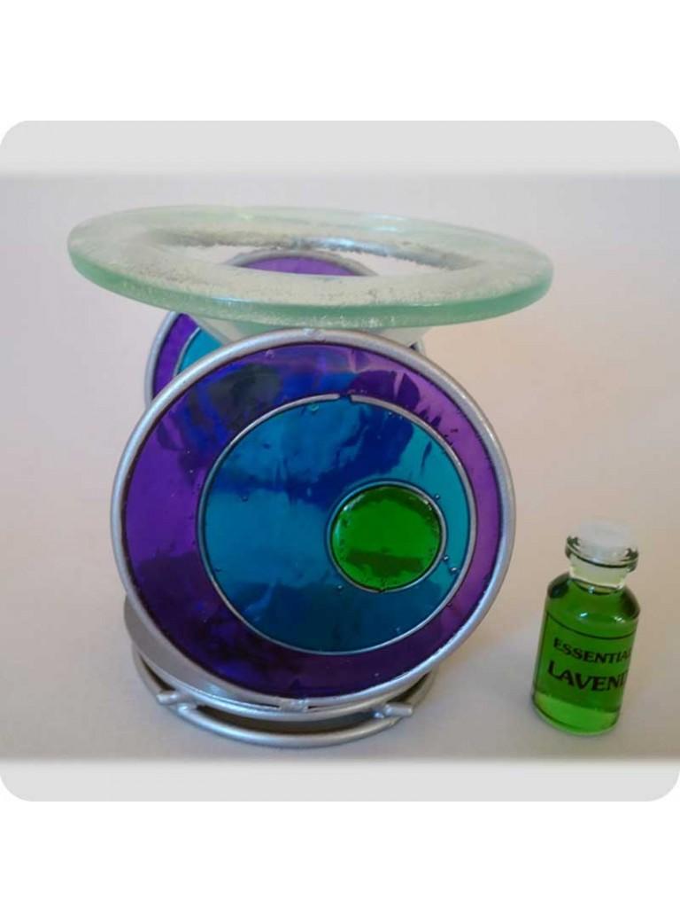 Oil burner purple/blue circles