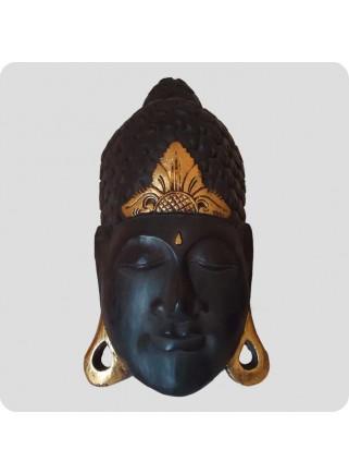Stor buddha maske træ